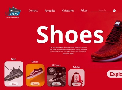 Shoes Store xd ui kit xd design ux ui
