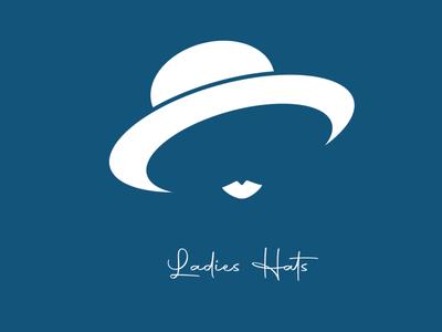 Ladies Hat illustration minimal design vector branding logos hats ladies logo