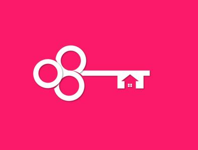 Safe Key house key illustration design vector logos logo branding