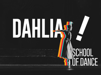 Dahlia School Of Dance stationary typography logo design branding