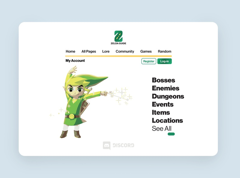 Zelda Guide Wiki Site ui  ux web design website ux ui typography logo design branding