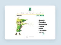 Zelda Guide Wiki Site ui  ux web design website ux ui typography logo design branding