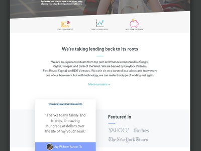 Home Page Iteration illustration loans finance depth illustation icons marketing home page web