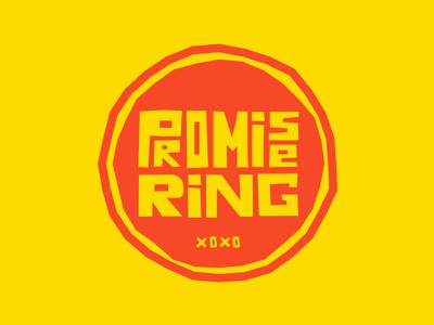 Promise Ring brand lettering typography vector shapes color logo type