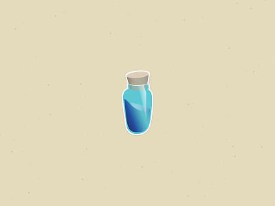 Mini shield games fortnite icon graphic sticker potion illustration vector