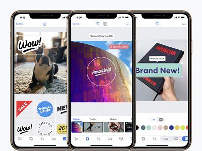 Ads Manager App - Creative Tools app mobile typography ui design editor photo facebook ads facebook navigation