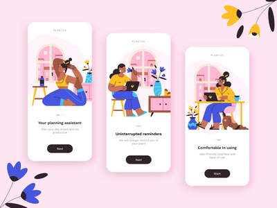 Onboarding screens splashscreen mobile app welcome screen onboarding figma app ux abstract illustration design creative concept