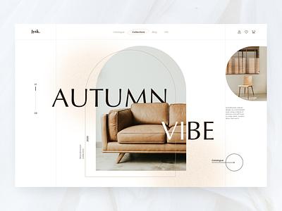 Modern Furniture - Website concept vector illustration concept abstract creative figma design logo graphic design ui