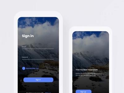 moiz art website minimal animation ux typography web icon webdesign uiux travel app walkthrough signup