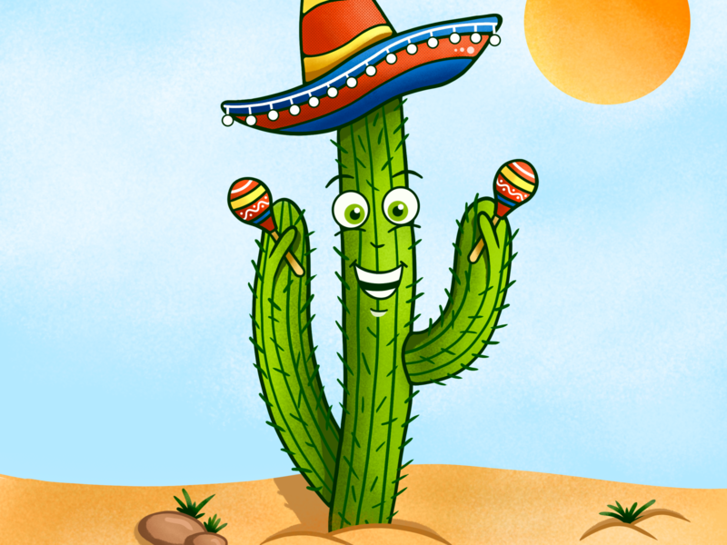 Cactus mexican character drawings drawing cactus art illustration painter
