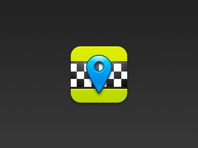 Taxi icon icon ios taxi location hail app