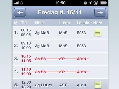 MitSkema practice redesign ios iphone ui redesign lectio