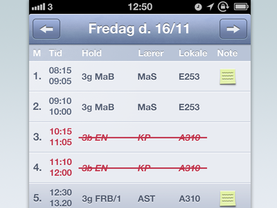 MitSkema practice redesign ios iphone ui redesign lectio