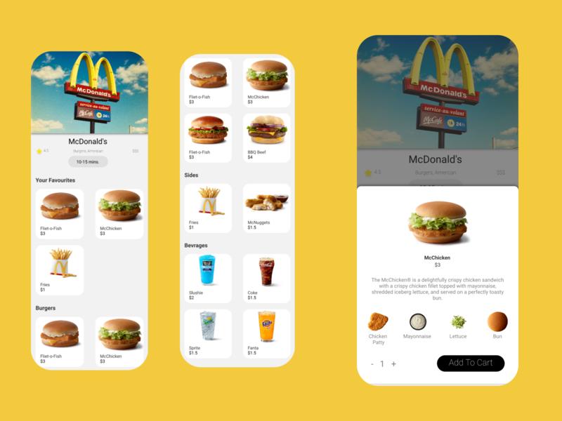 Food App UI desgin design app adobe xd ux ui xd design adobe photoshop