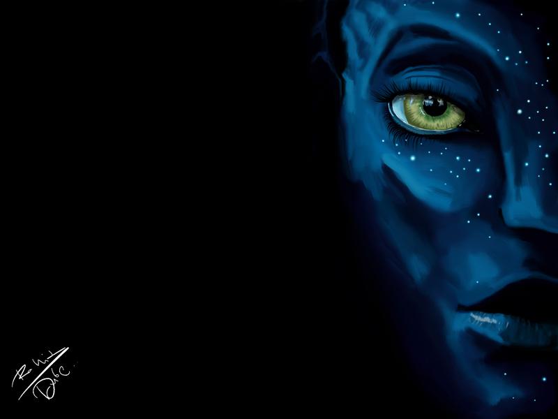 Avatar : I SEE YOU wallpaper beautiful eyes blue black avatar james cameron zoe saldana design art design digital digital illustration sketch painting digital painting digitalart digital design
