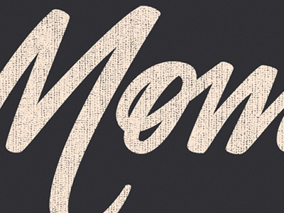 Moment typography hand lettering