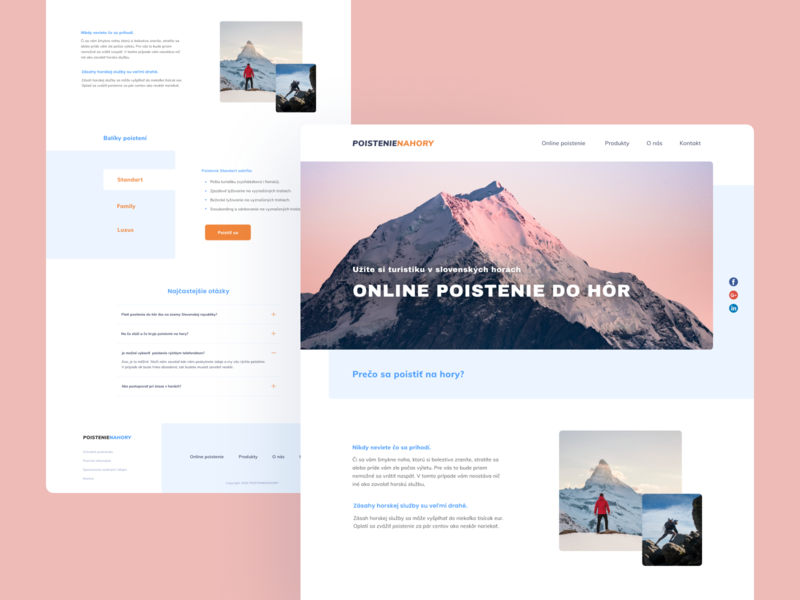 Mountain Insurance Landing page concept web mountain insurance clean uidesign figma landing ui template design