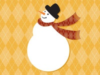 Snowman Illustration - Holiday Card