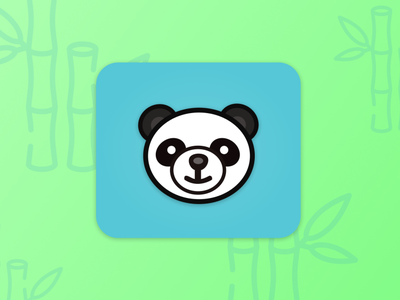 App icon  / Daily UI #005 green panda app icon logo illustration branding website 005 web minimal design ui dailyuichallenge dailyui daily 100 challenge