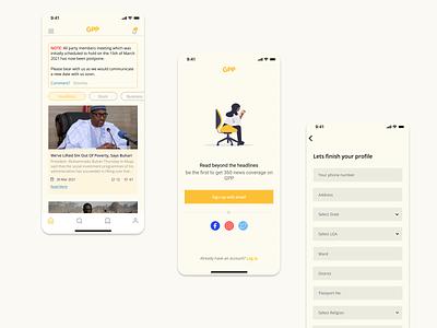 Political data management app website icon web app ux ui design