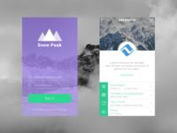 Snow Peak Mobile App Concept