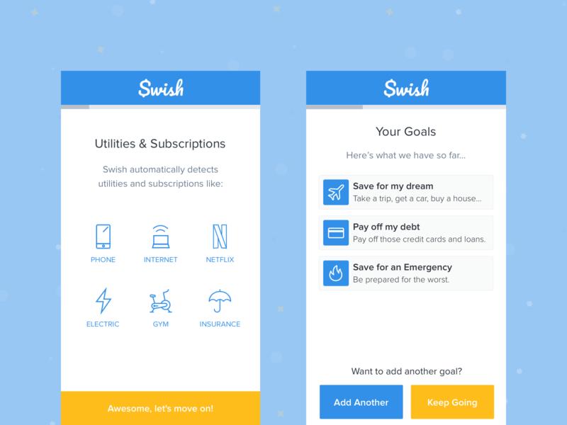 Swish - The Smart Spending Tracker finance app mobile dashboard money app spending finance