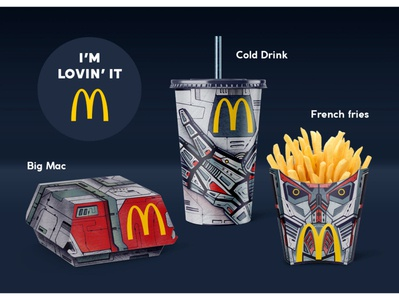 Packaging concept for McDonald's package robotic mcdonalds packaging design illustration
