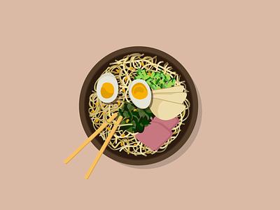 Ramen Bowl graphic design art illustrator asian food ramen illustration design adobe