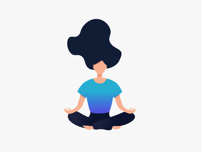 Meditate gradient character design minimal flat illustrator illustration adobe meditation meditate