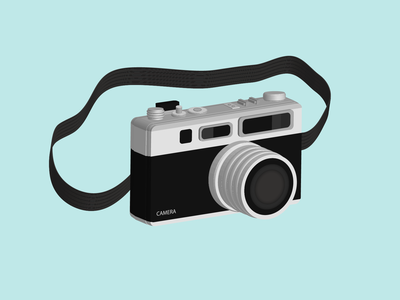 Camera 3D art design vintage camera graphic design illustrator illustration adobe 3d