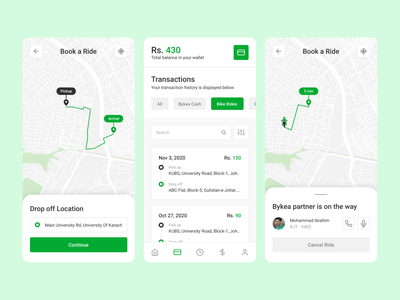 Bykea UI/UX Redesign location user experience user interface app mobile figma transport app mobile app ui ux ui android app redesign design