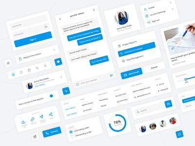 UI Design | Components cards profile chat icon typography ux ui minimal design website app mobile app figma ux design ui design components component