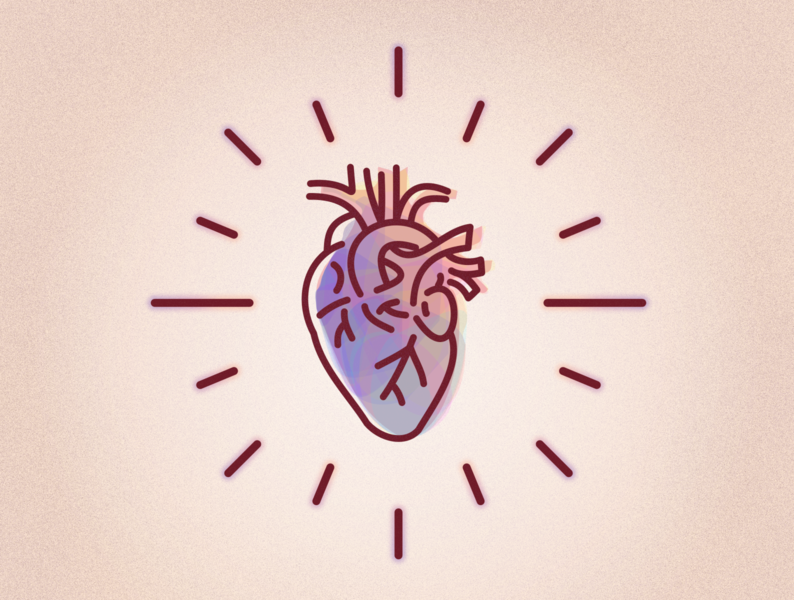 keep my heart alive minimal inkscape icon logo lineart vector design illustration