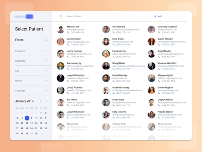Patient Overview Dashboard Design
