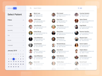 Patient Overview Dashboard Design