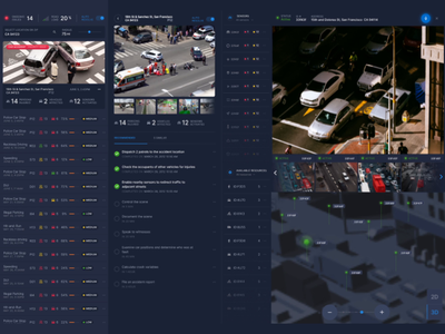 AI-Powered Traffic Dashboard - Reporting for Disputed Accident transportation accidents traffic jam data interactions responsive dashboard interface ui design animation