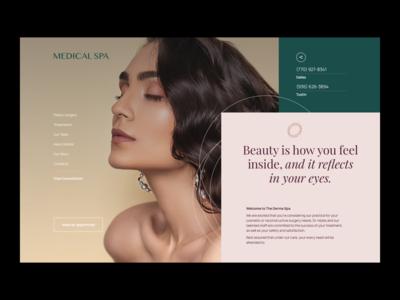 UI Design for Beauty Website