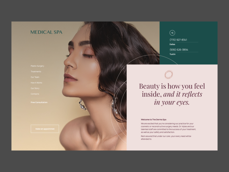 UI Design for Beauty Website