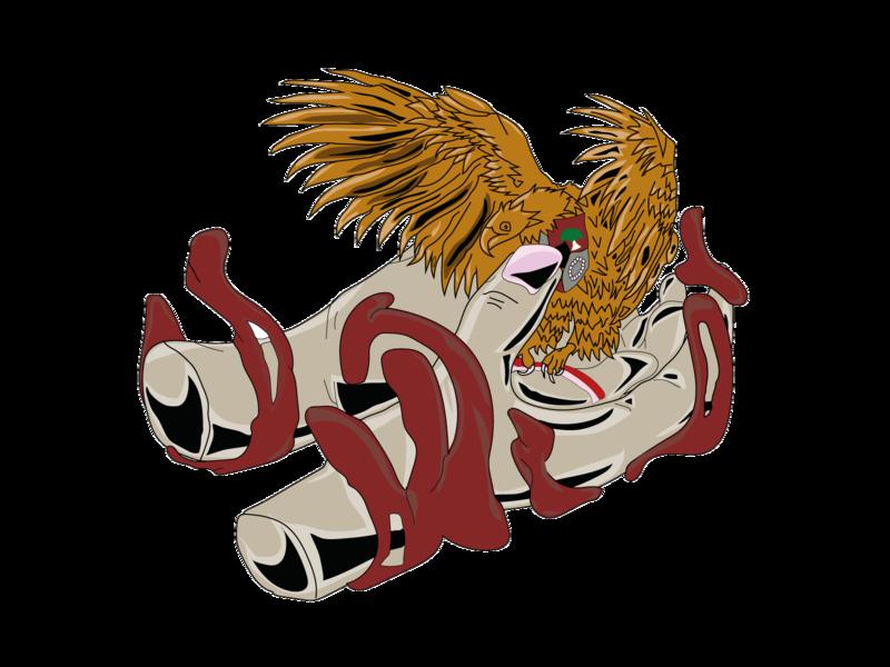 eagle and hand logo design vector logo flat icon design illustration