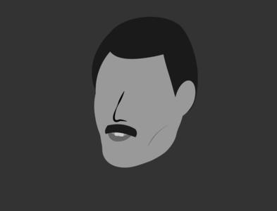 minimal Freddie _ SEVEN ARTS project freddie mercury freddie design vector musician minimalistic minimal artwork illustrator illustration flat art