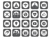 University Mobile App Icons