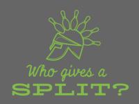 Spartan-themed Bowling T-shirt Design