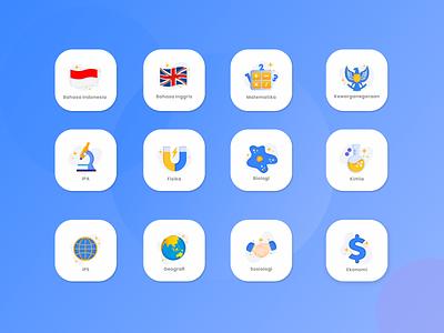 STUDY ICON SET icon illustration iconsets matapelajaran