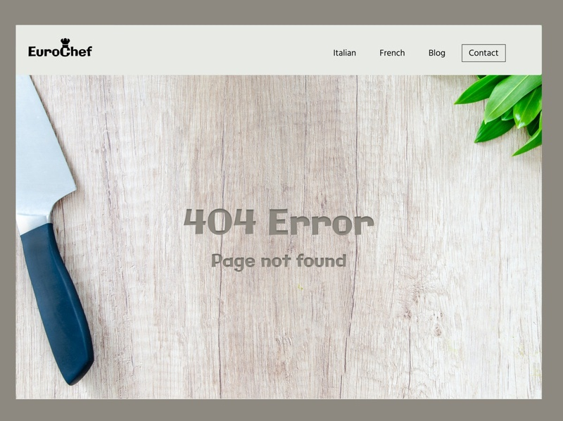 404 Page for a Chef 404 error chef logo chef branding design ui 404 error page