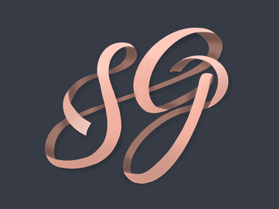 SG Ribbon Monogram newbie beginner illustration lettering weekly challenge handlettering procreate monogram typography weeklywarmup