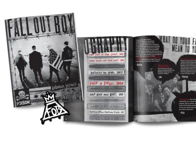 Fall Out Boy album packaging vip print design