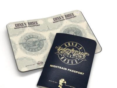 Guns N  Roses Passport tour vip print design