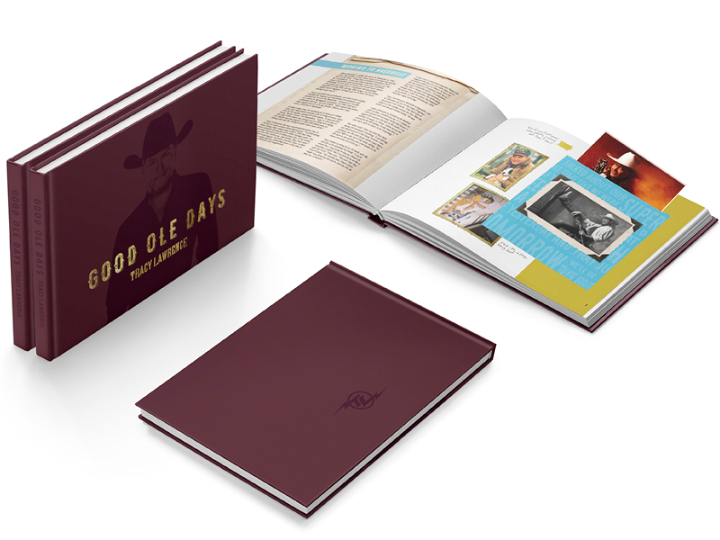 Tracy Lawrence: Good Ole Days print design album packaging