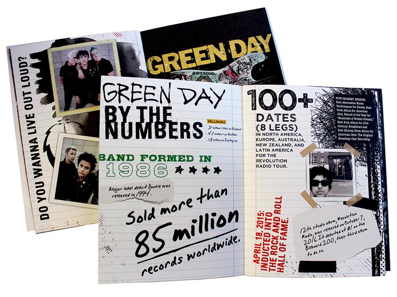 Green Day print design tour book