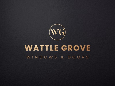 wg logo typography lettering minimal logo design branding